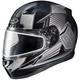 Black/Gray CL-17SN MC-5 Striker Helmet w/Frameless Dual Lens Shield