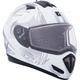 Matte White Tranz RSV Blast Mat Modular Snow Helmet