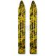 Black/Yellow Swirl Trail Skis - 04-2019