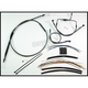 Black Pearl Designer Series Handlebar Installation Kit for Use w/12 in. - 14 in. Ape Hangers (Non-ABS) - 487301