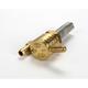Click-Slick Downward Facing Round Raw Brass Petcock - 22mm - 76-312D-BS