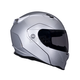 Metallic Silver Revolver EVO Helmet - Convertible To Snow