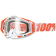 Orange/White Racecraft Goggles w/Clear Lens - 50100-006-02