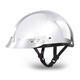 100% Chrome Skull Cap w/Mini Scoop Visor