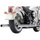 Chrome True Duals Exhaust System w/Billet Tips - 6986