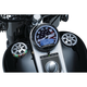 Chrome Alley Cat LED Fuel and Battery Gauge - 7381