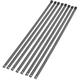 14 in. Black Powder-Coated Steel Cable Ties - 2120-0645