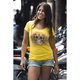 Womens Yellow Rise and Shirt T-Shirt
