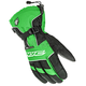 Black/White/Green Storm Gloves