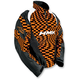 Orange Checker Throttle Pullover Jacket