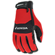 Red/Black Honda Crew Touch Gloves