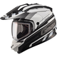 Flat Black/White GM11S Trekka Snow Sport Snowmobile Helmet