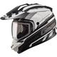 Flat Black/White GM11S Trekka Snow Sport Snowmobile Helmet