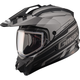 Flat Black/Dark Silver GM11S Trekka Snow Sport Snowmobile Helmet