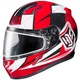 Red/White/Black CL-17SN MC-1 Striker Helmet w/Frameless Dual Lens Shield