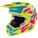 Hi-Vis/Cyan/Fuchsia Torque Core Helmet