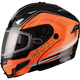 Black/Hi-Viz Orange GM54S Terrain Modular Snowmobile Helmet