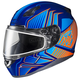 Purple/Blue/Orange CL-17SN MC-26 Redline Helmet w/Frameless Dual Lens Shield