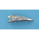 Small Chrome Eagle Head w/o Light Fender Ornament - DS-287556
