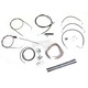 Black Vinyl Handlebar Cable and Brake Line Kit for Use w/15 in. - 17 in. Ape Hangers (w/o ABS) - LA-8005KT2B-16B