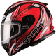 Red/White/Black FF49 Sektor Snowmobile Helmet