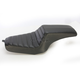 Black Horizontal Tuck N Roll Continental Seat - DS-VIN-OD-BT