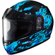 Youth Blue/Black CL-YSN Flame Helmet With Framed Dual Lens Shield
