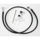 Front Extended Length Black Vinyl Braided Stainless Steel Brake Line Kit +2 in. - 1741-2533