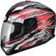 Red/White/Black GM78S Firestarter Full Face Helmet