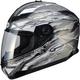 Titanium/White/Black GM78S Firestarter Full Face Helmet