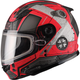 Youth Flat Black/Red GM49Y Trooper Snowmobile Helmet