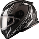 Flat Black/Silver FF49 Sektor Snowmobile Helmet