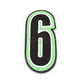 Green/Black 5 in. Number 6 Patch For Gear Bags - 3550-0263