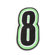 Green/Black 5 in. Number 8 Patch For Gear Bags - 3550-0265