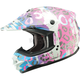Multi-colored Leopard Divas Snow Gear DSG GM76X Helmet