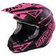 Matte Black/Fuchsia Torque Commando Helmet