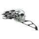 Chrome/Black Flaming Skull Mirrors - 47056