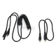 Black Replacement Power Cord for Falcon Electric Goggles - 500036