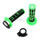 Black/Green Emig V2 Lock-On Grips - H32EMBN