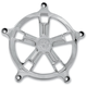 Chrome Turbo Venturi Air Cleaner Faceplate - 02062032TURCH