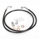 Black Vinyl Coated Stainless Braided Brake Line for Use w/Mini Ape Hangers (w/o ABS) - LA-8100B08B