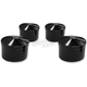 Black Round Head Bolt Covers - HBC-302-ANO