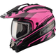 Black/Pink GM11S Trekka Snow Sport Snowmobile Helmet
