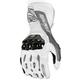 White/Gunmetal Flexium TX Leather Gloves