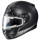 Matte Black/Reflective CL-17SN Streamline MC-5RF Snowmobile Helmet w/Electric Shield