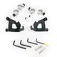 Black Trigger-Lock Hardware Kit for Cafe Fairing - MEB1996