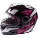 Youth Black/Fuchsia Nitro Helmet