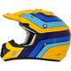 Yellow/Light Blue/Blue FX-17 Vintage Suzuki Helmet