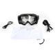 Black Falcon Snowmobile Goggles w/Clear Electric Dual-Pane Lens - 500020