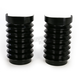Black Anodized Retro Fork Boot Slider Covers - 20-037